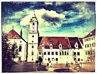 The old town hall is one of the oldest buildings of the city built of stone. It is located at the Main Square in the old town of Bratislava, Slovakia,...