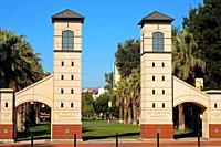 Entrance Gates to the San Jose State University.