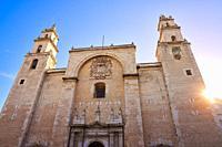 Merida San Idefonso cathedral of Yucatan in Mexico.