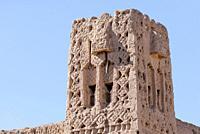old tower of a kasbah, Palmeraie de Skoura, Skoura, Morocco, Africa.