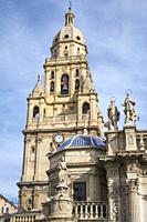 Bell tower of Murcia Cathedral in Murcia Spain.
