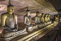 Dambulla cave temple, Matale, Central Province, Sri Lanka, Asia.