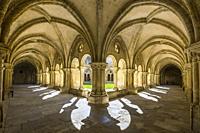 The Cloister of the Old Cathedral, Sé Velha, Alta Area, Coimbra, Baixo Mondego, Centro Region, Portugal, Europe.