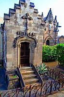 mausoleums, cemetery of Poblenou, Barcelona, Catalonia, Spain