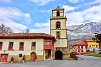 Collegiate Church of San Pedro in Concejo de Teverga. Asturias, Spain.