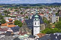 Klatovy, Czech Republic - Archdean parish church of the Nativity of Virgin Mary.