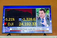 Television tv event of a stock market dow jones industrials dj crash or correction to the downside of greater than 5 %i on February 5 2017 closing dow...