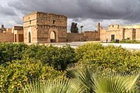 El Badi Palace ruins, Marrakesh, Kingdom of Morocco, Africa.