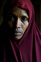 Portrait of Munira Hussein ( Oromia region, Ethiopia). She lost her husband in the Mediterranean sea when he was trying to reach Europe.