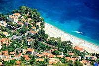 Roquebrune Cap Martin, Cabbe beach, Alpes-Maritimes, 06, cote d'Azur, PACA. France.