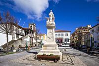 Portugal, Azores, Terceira Island, Praia da Vitoria, town hall square.