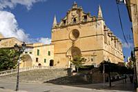 Iglesia de Sant Miquel,. siglos XVI y XVII ,varios estilos arquitectónicos, predominado el neogótico, Felanitx, Mallorca, balearic islands, Spain.