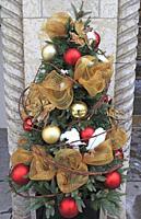Christmas decoration, Montreal, Canada.