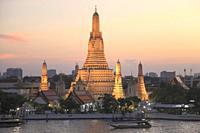 Thailand, Bangkok, Wat Arun, Temple of Dawn,.