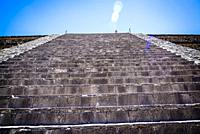 Temple of the Feathered Serpent, Teotihuacan, former pre-Columbian city and an archaeological complex northeast of Mexico City, Mexico.