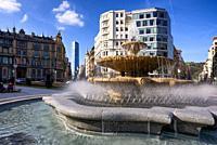 Plaza Federico Moyua, Bilbao, Biscay, Basque Country, Euskadi, Euskal Herria, Spain.