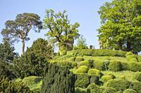 Mound at Warwick Castle, Warwickshire, England.