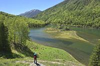 Gorgeous northern scenery at Kanas Lake National Park, Xinjiang, China.