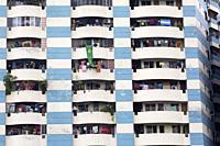 DHAKA, BANGLADESH - JUNE 12 : multi storied building seen at New Market area during the Ramadan in Dhaka , Bangladesh on June 12, 2018. Last 10 years ...