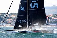 Sailing: Ineos Rebels UK with Will Aloway as a Skipper. Extremesailing round 4 at Baia de Cascais, Cascais, Portugal..