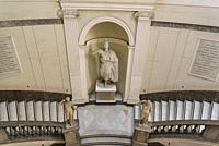 National Archaeological Museum, Grand staircase, Naples, Italy.
