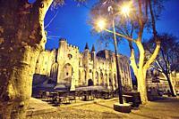The Papal palace. UNESCO World heritage site. Avignon. Provence-Alpes-Côte d'Azur. France.