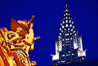 Grand Central Station and Chrysler Building, New York.