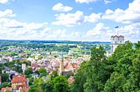 Ravensburg, Baden-Wurttemberg, Upper Swabia, Germany - View from Veitsburg Castle over the Old Town.