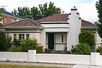 1940s Art Moderne house in suburban Melbourne, Australia.