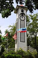 Atkinson Clock Tower in Kota Kinabalu (formerly Jesselton), the capital of Sabah, Malaysian Borneo. The clocktower is a memorial to a young colonial o...