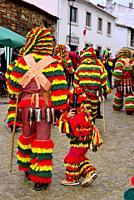 "Masks of Caretos """"Traditional carnival mask"""" of Podence, Macedo de Cavaleiros, Portugal."