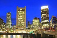 Boston in the Evening, Massachusetts, USA.