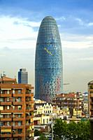 Torre Agbar, modern office building Barcelona Spain the cosmopolitan capital of Spainâ. . s Catalonia region, is known for its art and architecture. T...