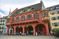 Historical store. Münster platz. Münster square. Freiburg. Freiburg im Breisgau. Black Forest. Baden Wurttemberg. Germany