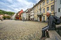 Münster platz. Münster square. Freiburg. Freiburg im Breisgau. Black Forest. Baden Wurttemberg. Germany