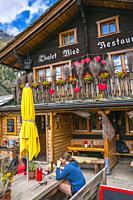 Ried Restaurant. Ried. Zermatt. Swiss Alps . Valais. Switzerland. Europe.
