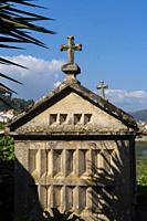 Horreos, Combarro, Poio, Ria de Pontevedra, Pontevedra province, Galicia, Spain