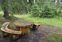 picnic area in Chocholowska Valley, near Witow, Podhale Region, Polish Tatra mountains, Malopolska Province (Lesser Poland), Poland, Central Europe.