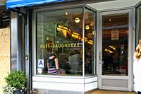 New York City, Manhattan, Lower East Side. Close up of Russ and Daughters Cafe, A Popular Restaurant.