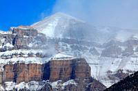 Rock Mondarruego. Ordesa y Monte Perdido national park. Huesca.