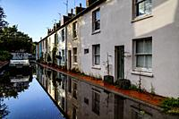 A Flooded Street After A Day Of Heavy Rain, Lewes, Sussex, UK.