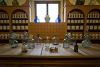Old chemist dispensary, San Pedro Art Museum, located in a former 16th-century hospital, Puebla, Mexico.