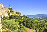 old village of the Provence, Ménerbes situated on a hill, France, member of most beautiful villages of France, department Vaucluse, Luberon mountains.