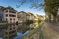 Petite France, Strasbourg district, Alsace, Grand Est region, Bas-Rhin, France.