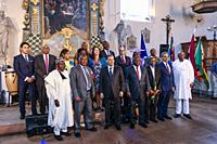 Annual Africa Day Celebration of African ambassadors to Sweden at the Historiska Museum is celebrated with dance, music and speeches. Stockholm, Swede...