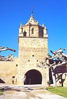 Tower. Veruela monastery, Vera de Moncayo, Zaragoza province, Aragon, Spain.