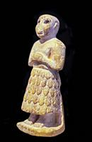 Statuette of a Sumerian prayer from the Early Dynastic Period.