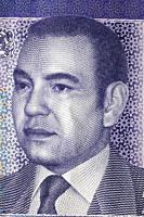 Portrait of King Mohammed VI from 20 dirhams banknote, Morocco, 2012.