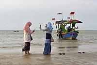 Karangjahe Beach near Lasem, Java island, Indonesia, Southeast Asia.