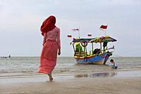 Karangjahe Beach near Lasem, Java island, Indonesia, Southeast Asia.
